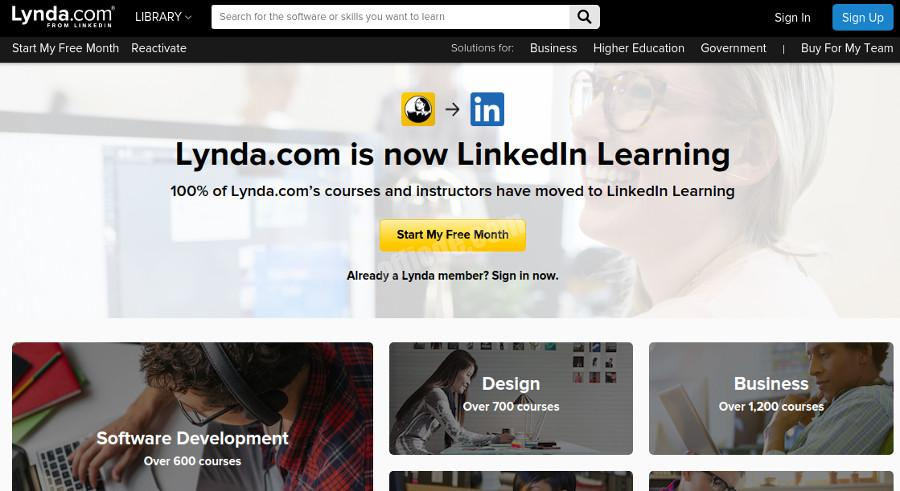 lynda website