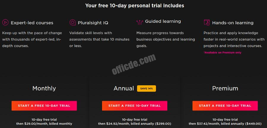 PluralSight Free Trial